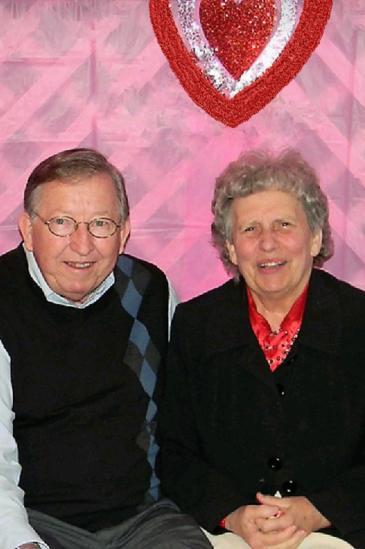 """Miss Ann"" with her late husband, Wayne"