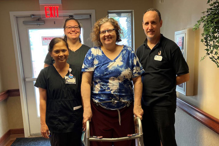 Dawn Anderson recovers from car accident at Life Care Center of Bridgeton
