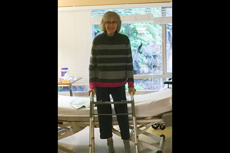 Life Care Center of Kirkland helps respiratory patient get back on her feet