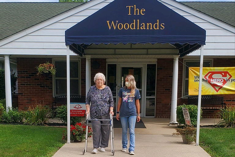 The Woodlands assists Beverly Gibson in reaching her goals of independence