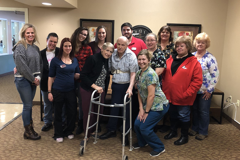 Therapy at Bridgeview Estates helps wife get her sweetheart back