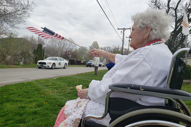 Life Care Center of Rochester resident celebrates 100 years with parade