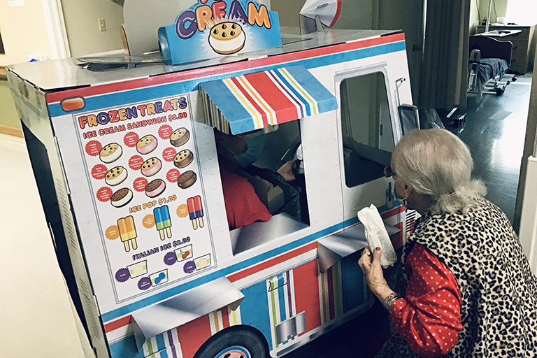 Life Care of Burlington ice cream truck delivers sweets for residents