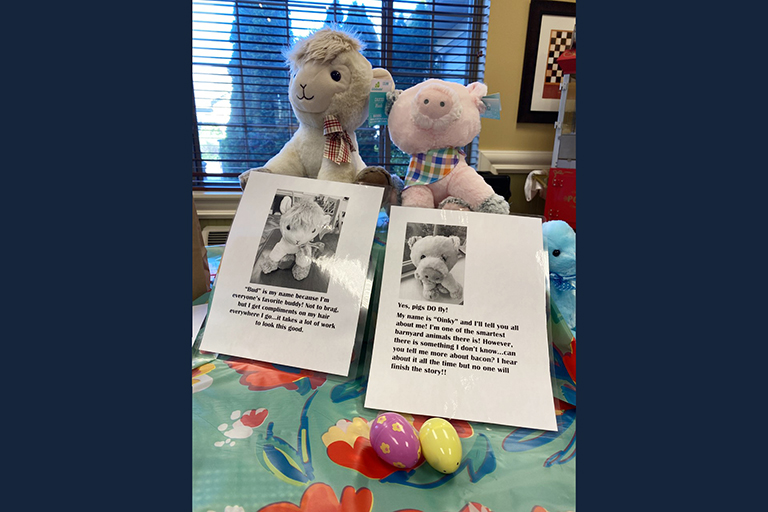 Life Care Center of East Ridge residents adopt stuffed animals for Easter