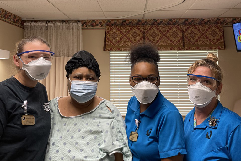 Wound care and therapy at The Westchester House help patient walk again