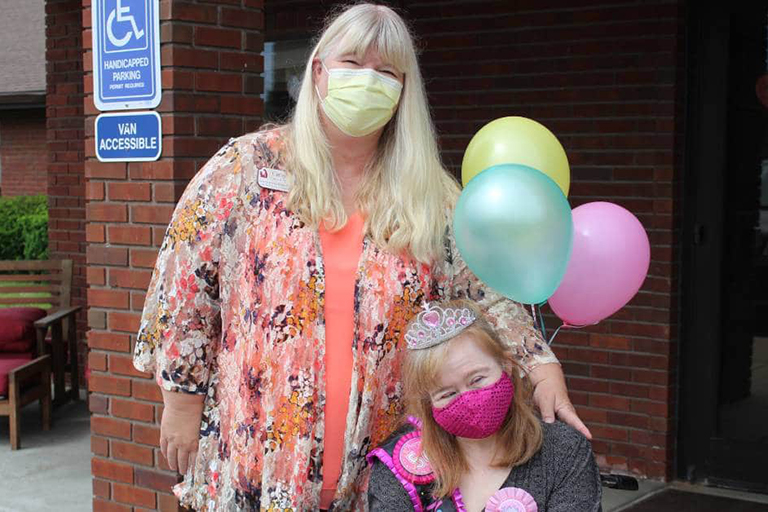 Associate's special needs sister completes rehab at Life Care of Valparaiso