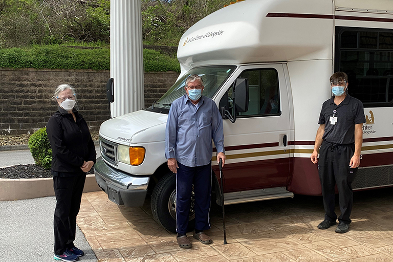 Life Care Center of Collegedale bus driver rehabs at facility after stroke