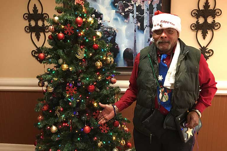 Rehab greeter, Emanual Kennedy, serves Life Care Center of Hixson
