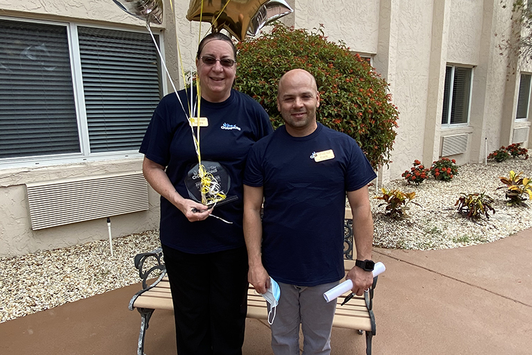 Life Care Center of Punta Gorda cook wins division's service award
