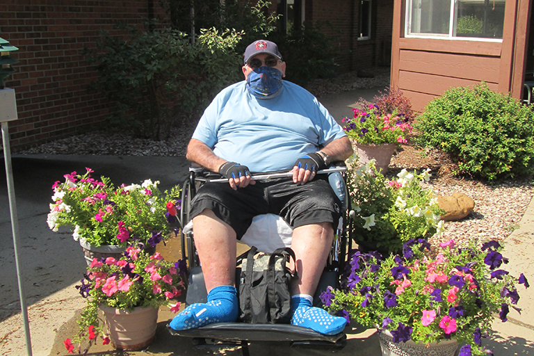 Gardener keeps up skills as resident at Valley View Villa