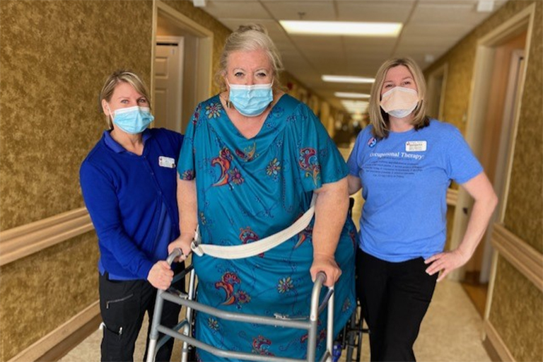 Rivergate Terrace helps COVID patient regain near independence