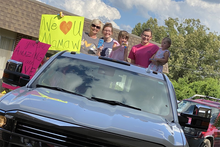 Life Care Center of Athens holds drive-through parade for families