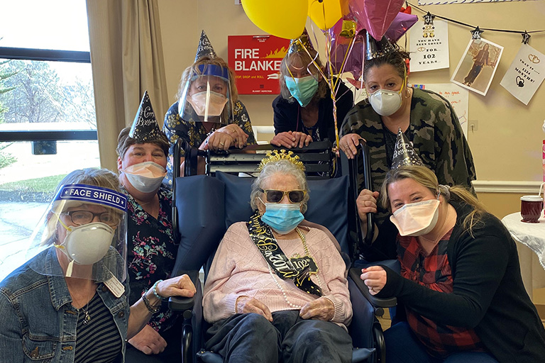 Life Care Center of the South Shore honors oldest resident