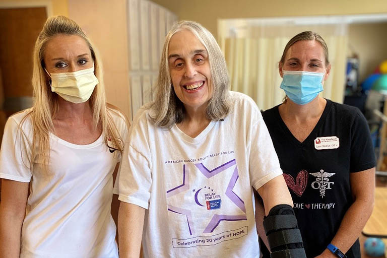 Therapy at The Woodlands helps Nancy Zearbaugh get home
