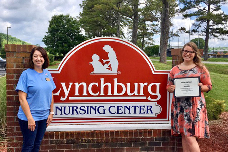 Lynchburg Nursing Center presents 2020 nursing scholarship