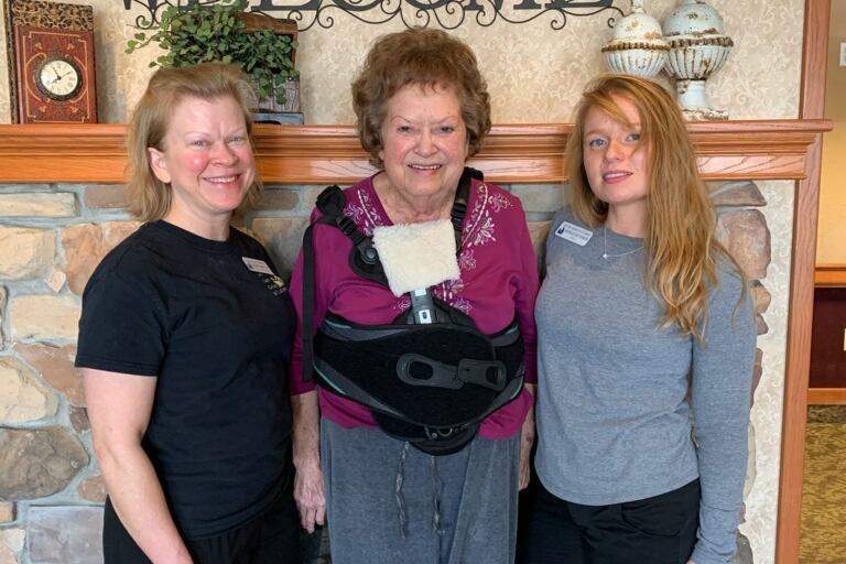 Life Care of La Center helps compression fracture patient get back home