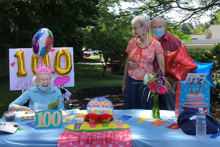 Life Care Center of Leominster celebrates resident's 100th birthday
