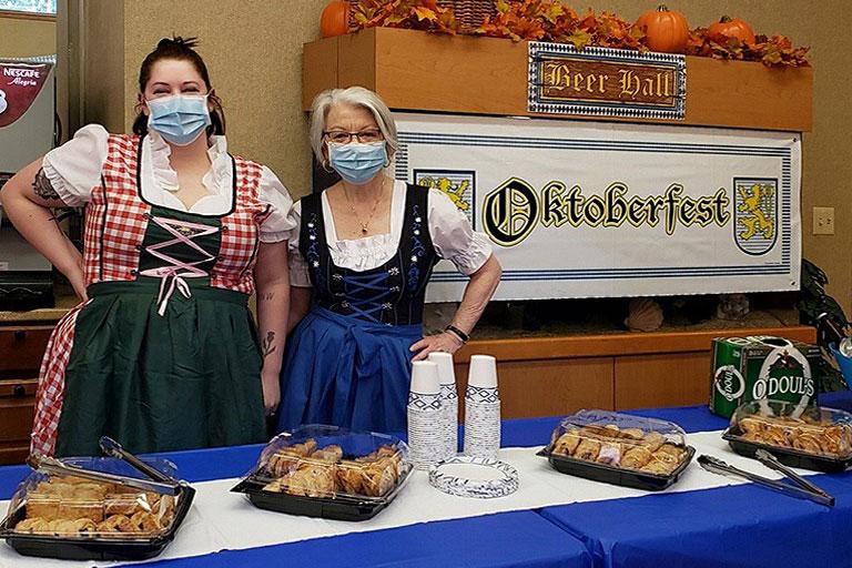 Life Care Center of Kirkland celebrates Oktoberfest with pretzels & polka