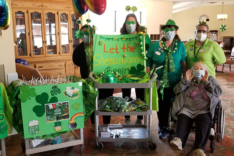 Life Care facilities get in the Irish spirit